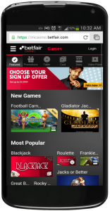 best mobile casinos betfair