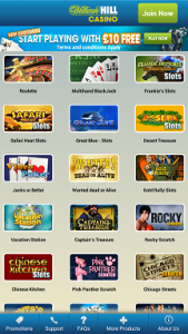 best mobile casinos william hill